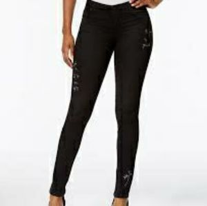 Kut from the Kloth Diana Embroidered Black Jeans